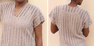 Open Waves Top for Women Crochet Free Pattern