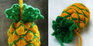 Crochet pineapple bag tutorial Free Pattern