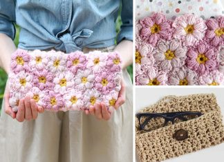 Flower Power Clutch Crochet Free Pattern