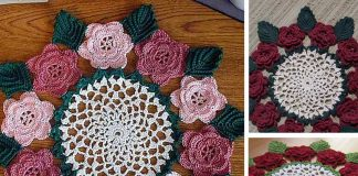 Rose Doily Flower Free Crochet Pattern