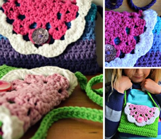 Little Doily Bag Crochet Free Pattern