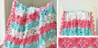 Twinkling Stars Blanket Crochet Free Pattern