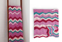 Breeze Afghan Blanket Free Crochet Pattern