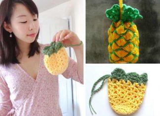 Crochet Pineapple Pouch Free Pattern