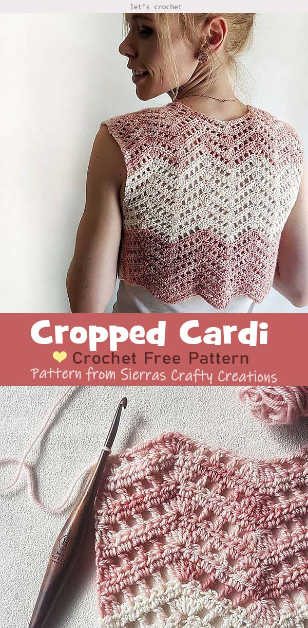 Cropped Cardi Crochet Free Pattern