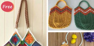 Crochet Squares Bag Free Pattern
