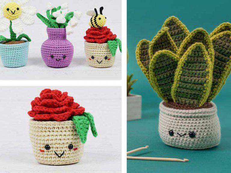 Potted Flower Plant Free Crochet Pattern