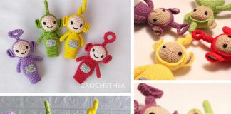 AMIGURUMI TELETUBBIES FINGER PUPPETS Free Crochet Pattern