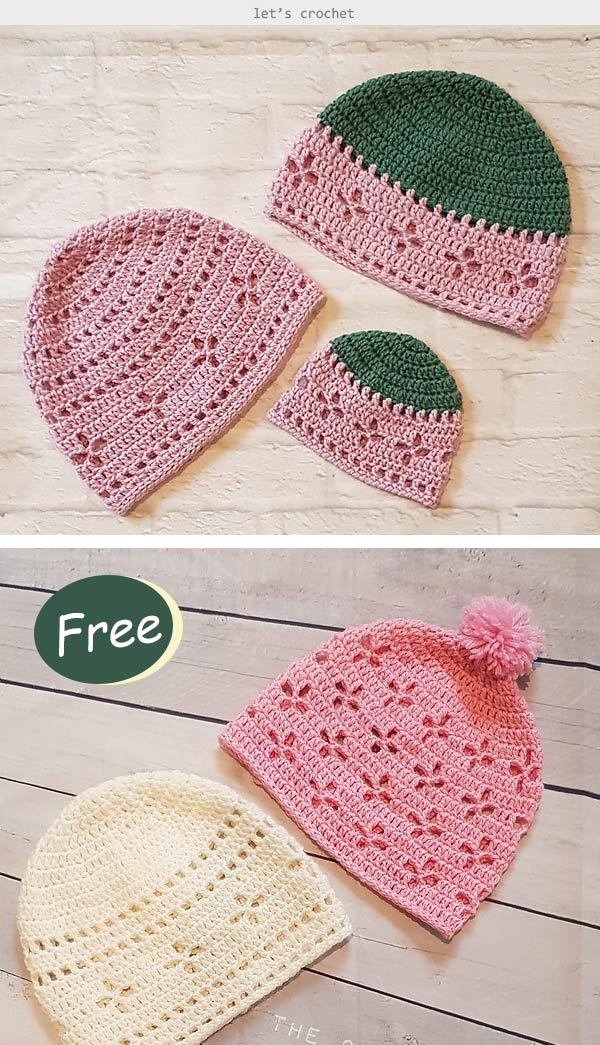 Vintage Vibes Beanie Hat Crochet Free Pattern