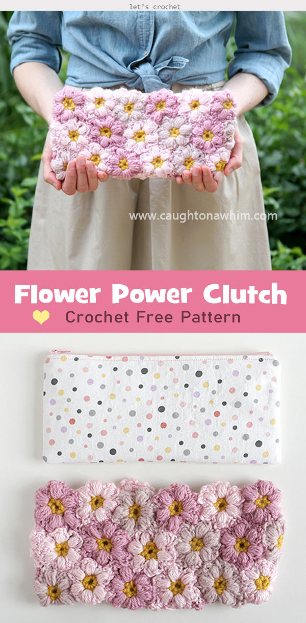 Flower Power Clutch Crochet Free Pattern