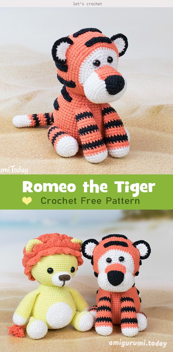 Romeo the Tiger Amigurumi Crochet Free Pattern
