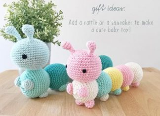 The Little Caterpillar Crochet Free Pattern