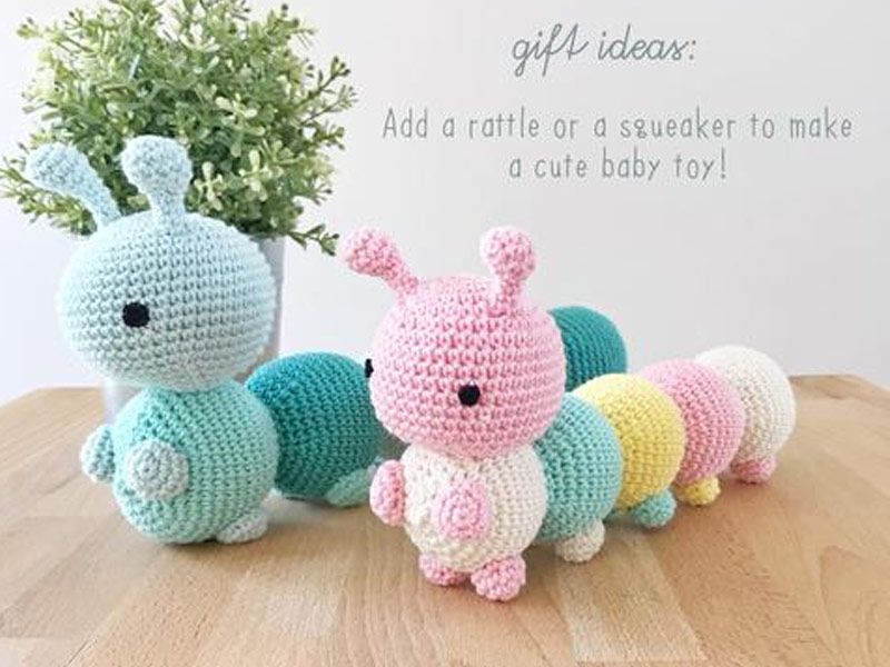 The Little Caterpillar Toy Crochet Free Pattern