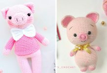 Gentleman Sweet Pig Crochet Free Pattern