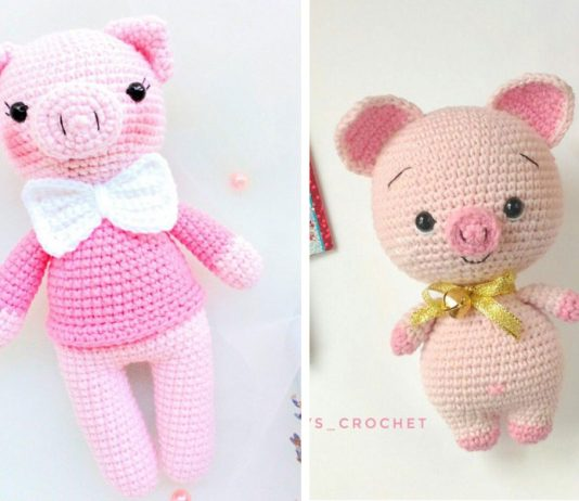 Gentleman Sweet Pig Crochet Free Pattern