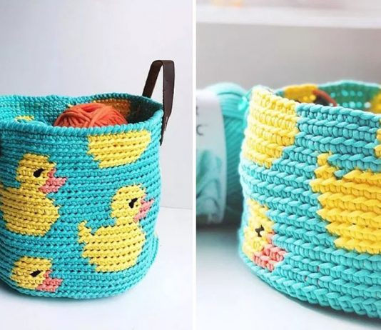 Ducky Basket Crochet Free Pattern