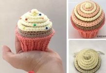 Cupcake Pin Cushion Free Crochet Pattern