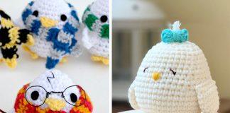 Wizarding Cute Chick Amigurumi Crochet Free Pattern