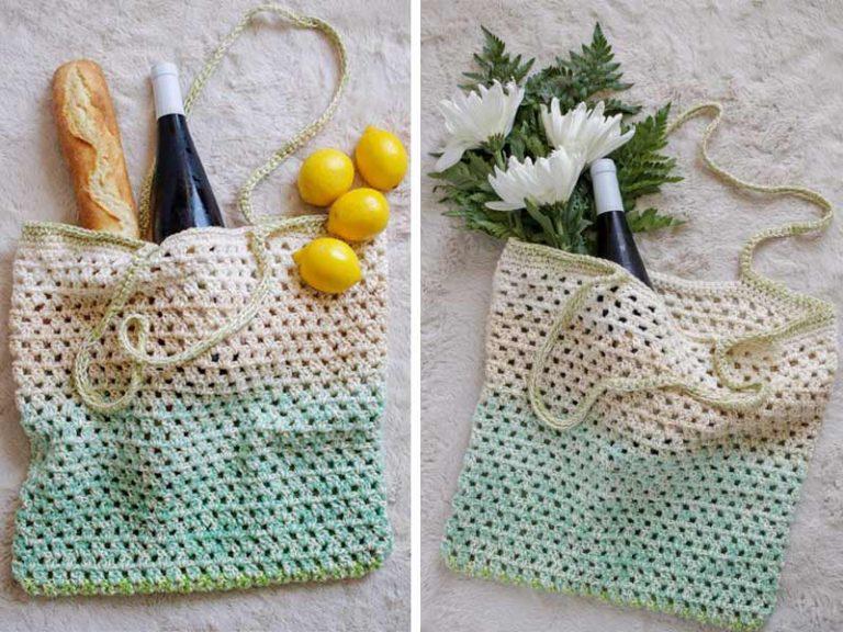 Simple Market Bag Free Crochet Pattern