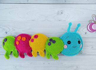 Caterpillar Kawaii Cuddler Free Crochet Pattern