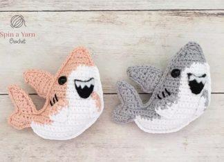 Shark Amigurumi Keychain Free Crochet Pattern