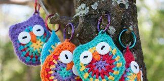 Owl Key Chain Crochet Free Pattern