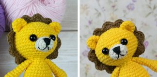 Tiny Lion Amigurumi Crochet Free Pattern