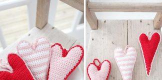 Skinny Hearts Free Crochet Pattern