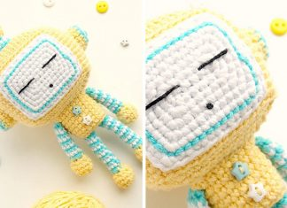 Sleeping Robot Free Crochet Pattern