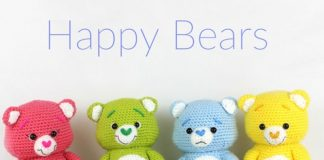 Happy Bears Amigurumi Crochet Free Pattern