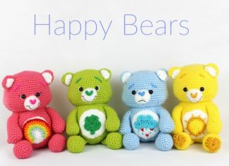 Happy Bears Amigurumi Crochet Free Pattern