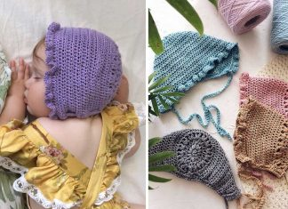 Mia Bonnet Hat Crochet Free Pattern