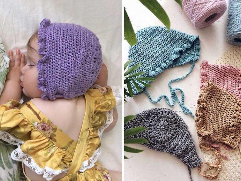 Mia Bonnet Hat Crochet Free Pattern