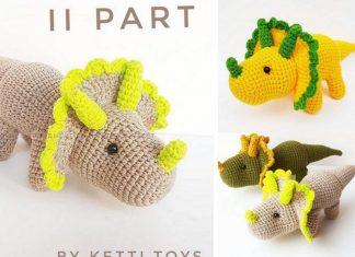 Amigurumi Triceratops Dinosaur Free Crochet Pattern