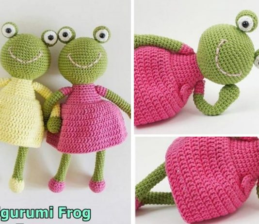 Amigurumi Frog in-a-Dress Crochet Free Pattern