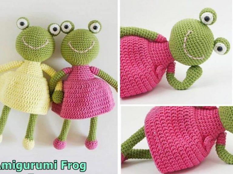 Amigurumi Frog in-a-Dress Crochet Free Pattern