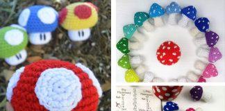Mini Mushroom Free Crochet Pattern