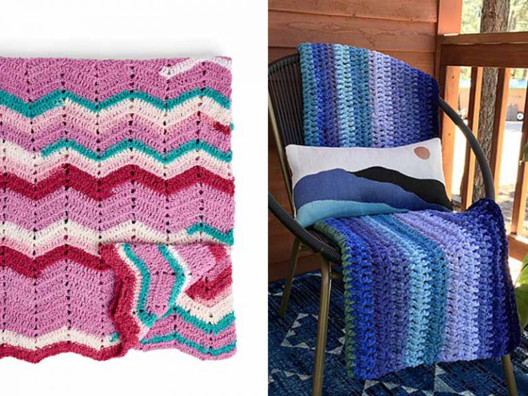 Breeze Afghan Blanket Free Crochet Pattern