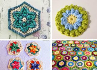 Summer Flower Hexagon Free Crochet Pattern