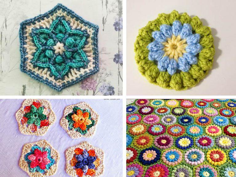 Summer Flower Hexagon Free Crochet Pattern