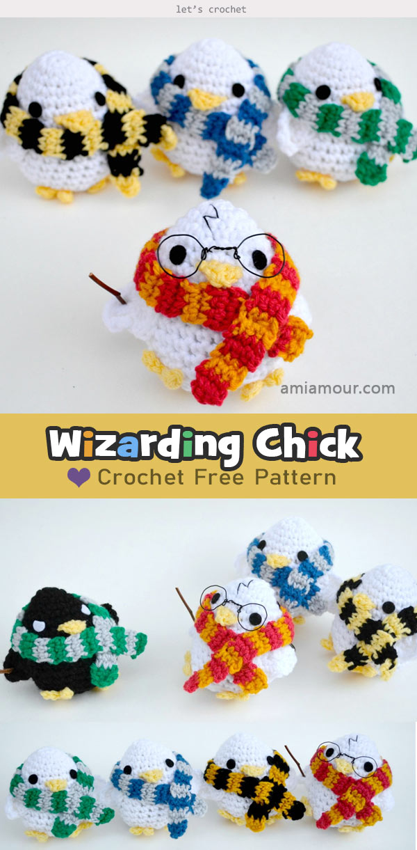 Wizarding Cute Chick Amigurumi Crochet Free Pattern