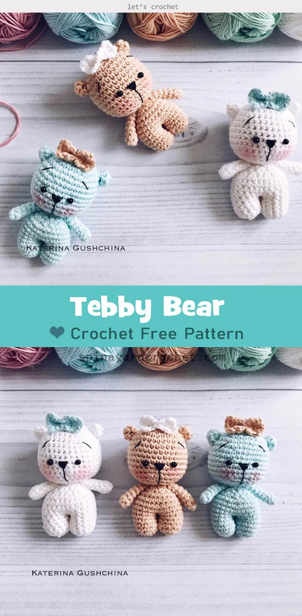 Crochet teddy bear-amigurumi forever from Hippehaakselss on Etsy | 1221x600