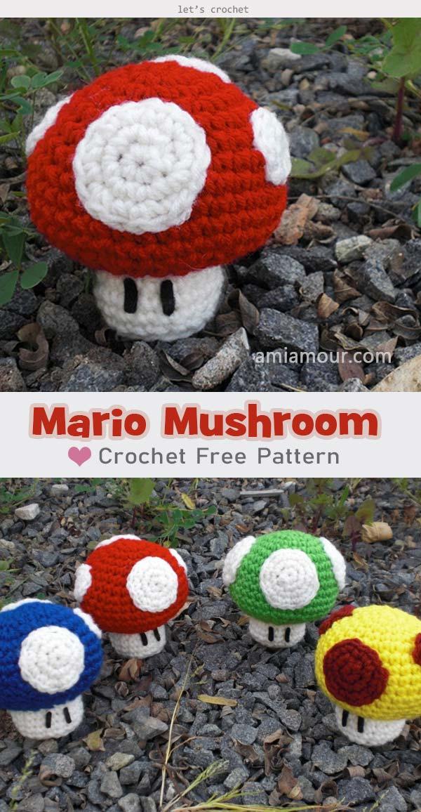 Mario Mushroom Free Crochet Pattern