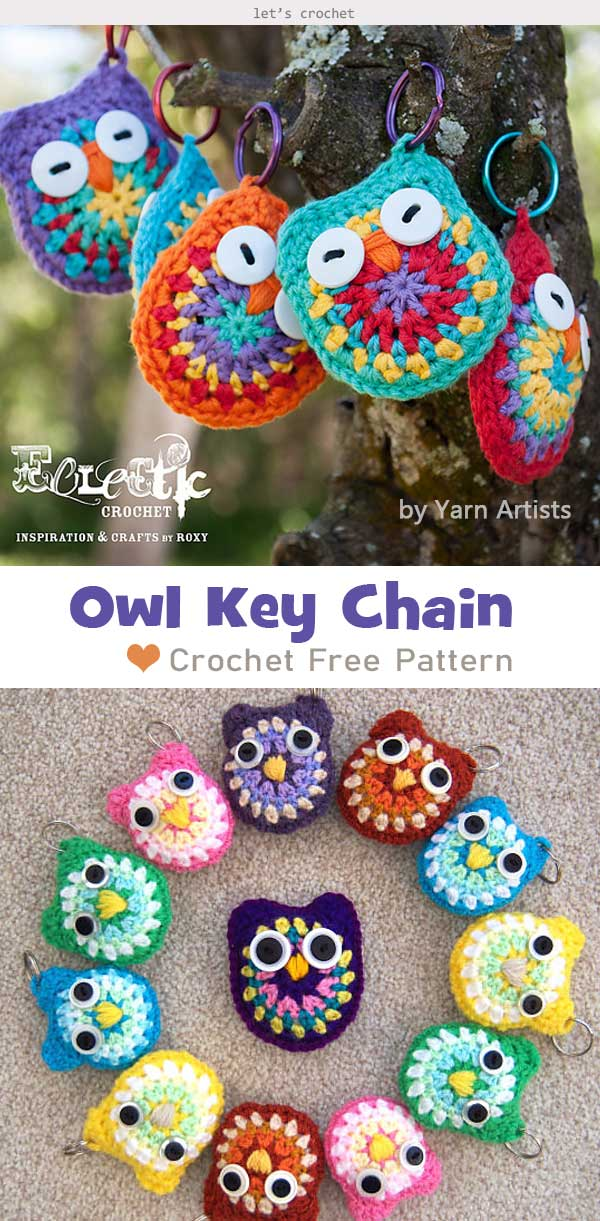 Owl Key Chain Crochet Free Pattern