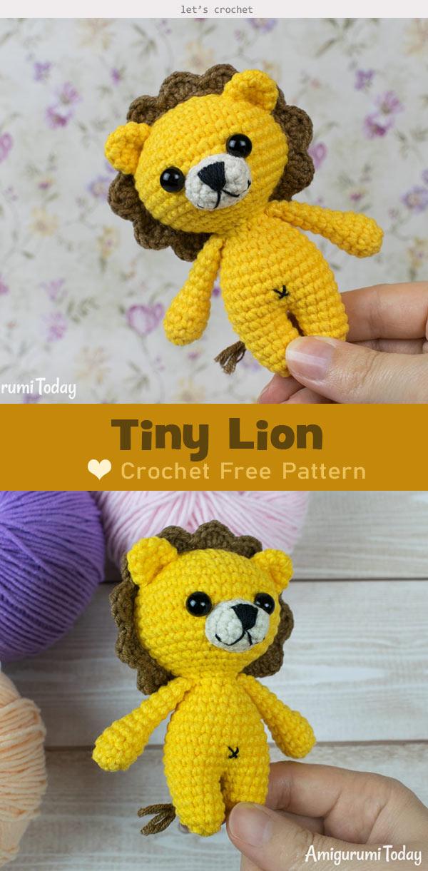 Tiny Lion Amigurumi Crochet Free Pattern