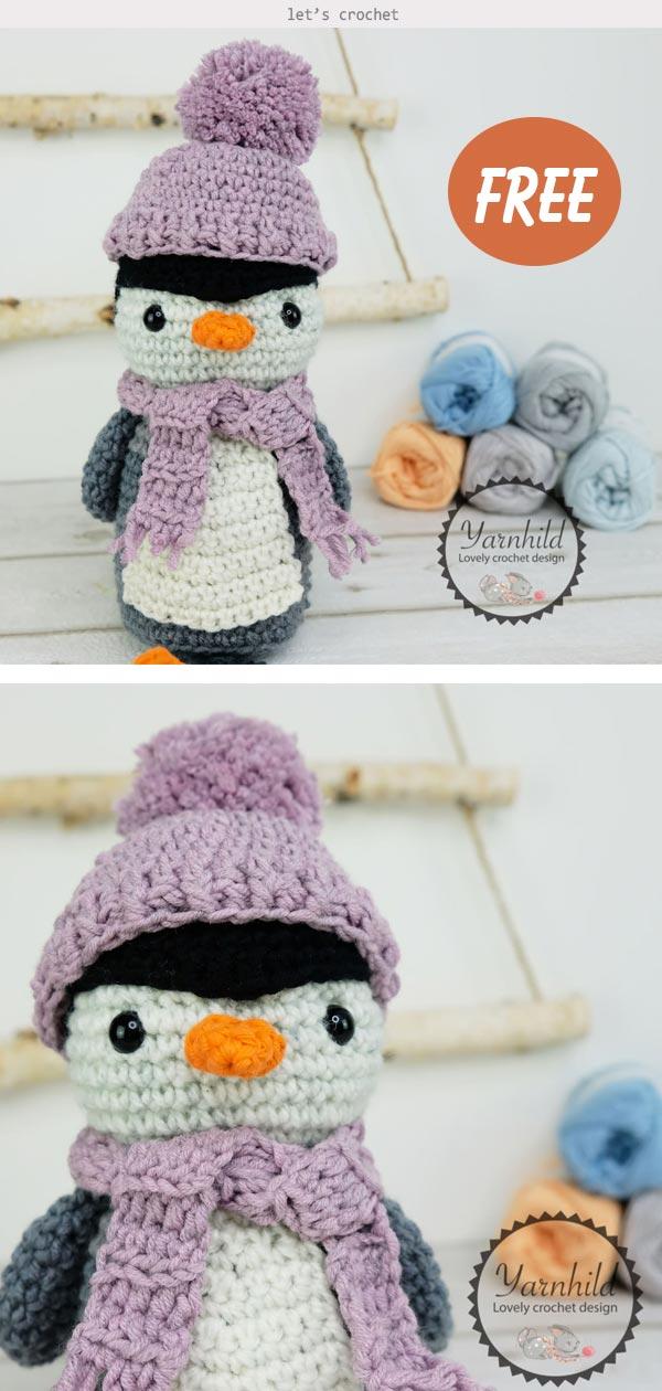 Frosty the Penguin Crochet Free Pattern