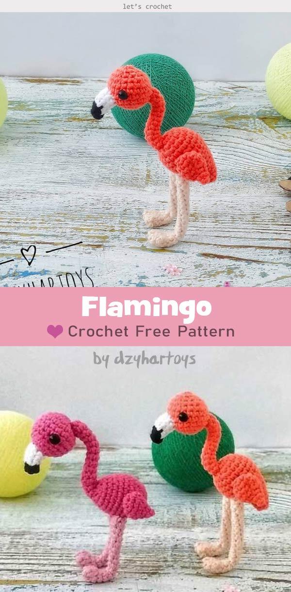 Amigurumi Flamingo Free Crochet Pattern