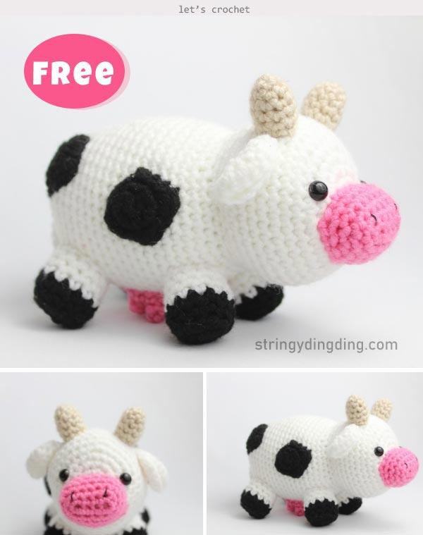 Alpine Cow crochet pattern   Crocheted cow pattern, Crochet cow ...   759x600
