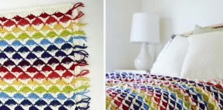 Rainbow Chic throw Crochet Free Pattern