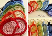 FLIP FLOP Key chain Crochet Free Pattern